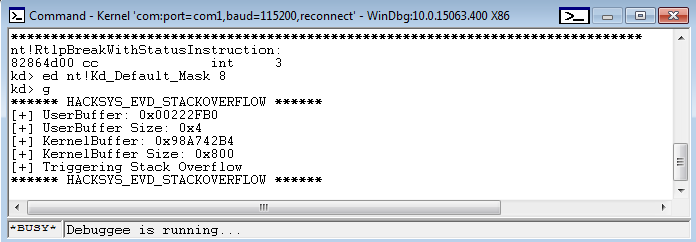Starting with Windows Kernel Exploitation – part 2 – getting