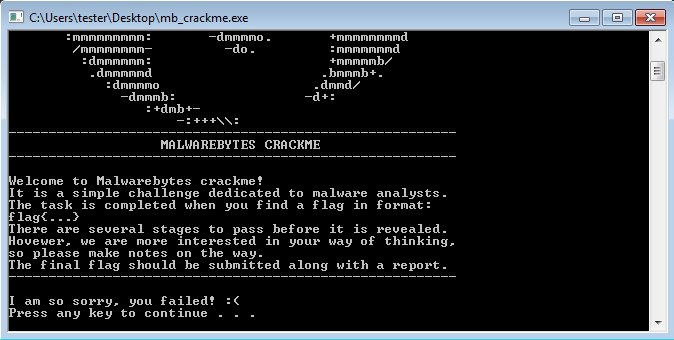 How to solve the Malwarebytes CrackMe: a step-by-step tutorial